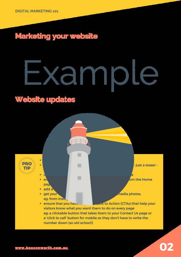 Website updates Example