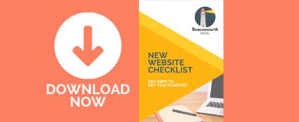 FREE download: New Website Checklist