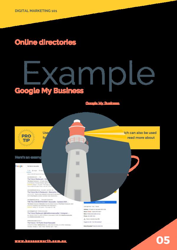 Online directories example